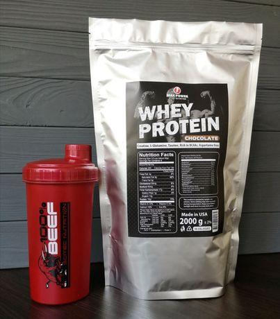Протеин Whey Сывороточный 75% (шейкер по акции)