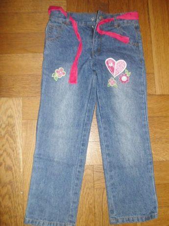 Dziewczęce spodnie jeansowe nowe z bonprix-u 116-122
