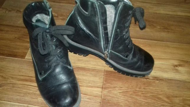 Продам зимние ботинки кожаные trekking