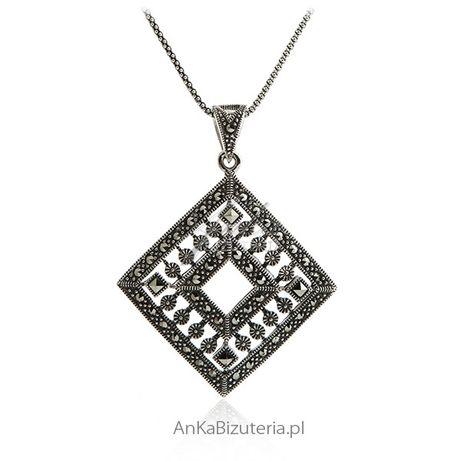 ankabizuteria.pl Wisiorek srebrny z markazytami