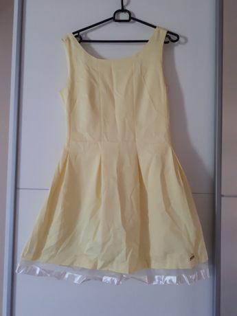 Żółta pastelowa sukienka rozm 40 #2