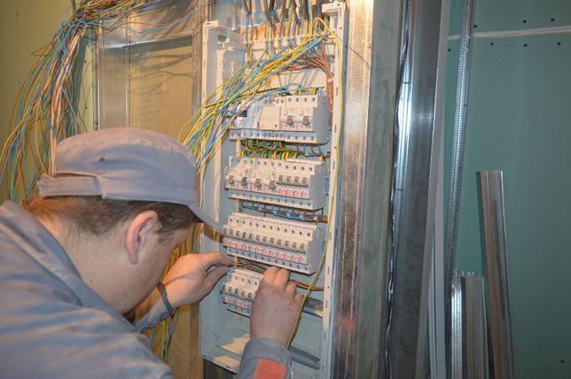 Электромонтажные работы в Киеве. Бригада электриков. Посмотрите видео