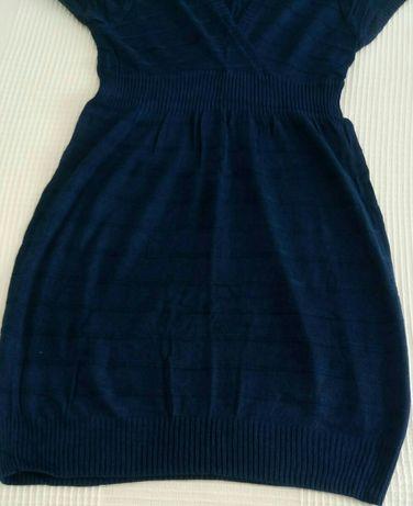 Vestido/ túnica azul marinha para Senhora