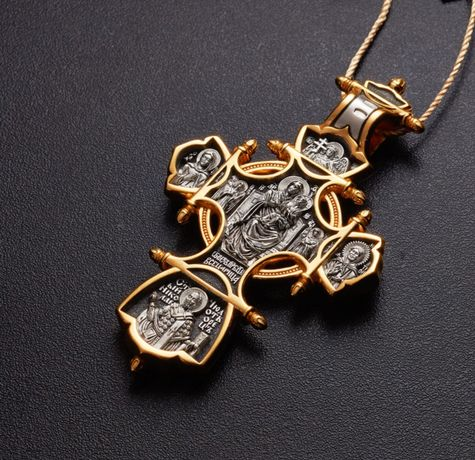 Акимовский крест Крест Акимов Крест серебро серебряный крест позолота