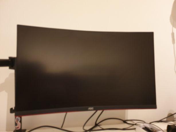 "Monitor Curvo AOC VA 27"" FHD 16:9 165Hz FreeSync - C/ Garantia"