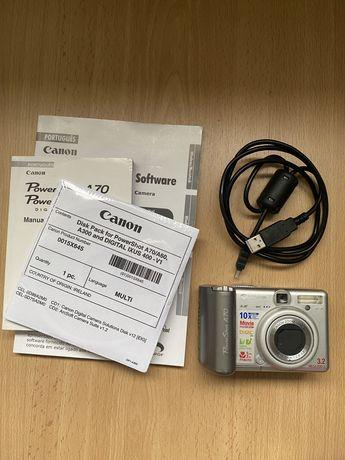 Máquina fotográfica Canon PowerShot A70