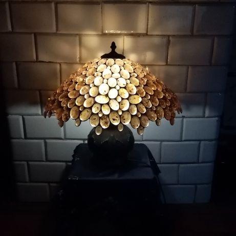 Lampa bursztynowa z mosiądzu