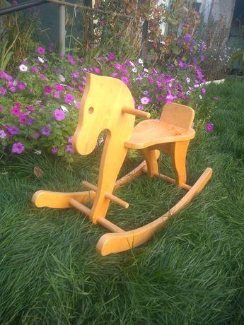 Лошадка+качель(из дерева)