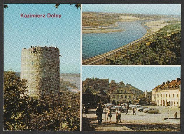 pocztówka - Kazimierz Dolny 1978 - baszta - Wisła