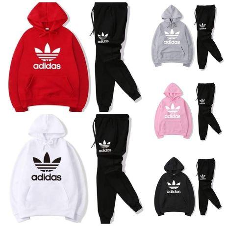 Dres zestaw sportowy Adidas bluza z kapturem sposdnie  s m l xl xxl