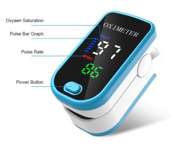 Pulsoksymetr napalcowy+bateria - wysyłka 24h
