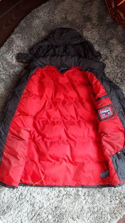 Пуховик куртка брендовый оригинал пух перо удлиненный tommy hilfiger