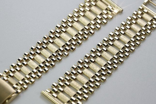 Złota 14k bransoleta do zegarka NOWA - NAJTANIEJ! wb001y B