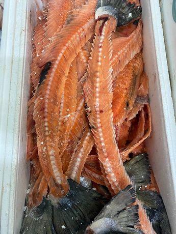 Хребты лосося с мясом
