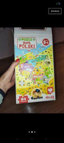 Czu czu mapa polski puzzle
