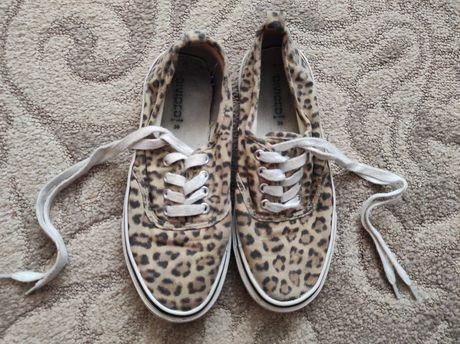 Buty tenisówki a'la vans w panterkę print pantera H&M