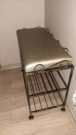 szafka /półka na buty z siedziskiem, wieszak i lustro