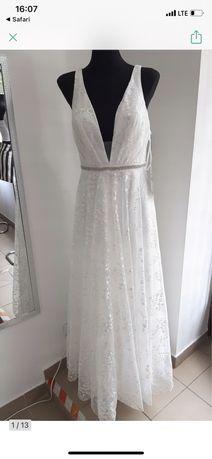 Suknia Ślubna balowa luxuar limited rozmiar 44