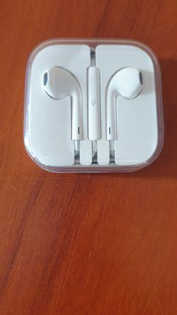 Słuchawki Apple białe nowe