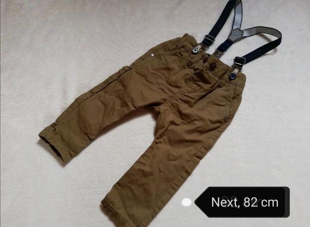 Spodnie next 6-9msc szelki