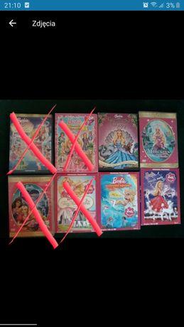DVD Barbie bajki,Mermaidia,W świecie mody,Akademia księżniczek i inne