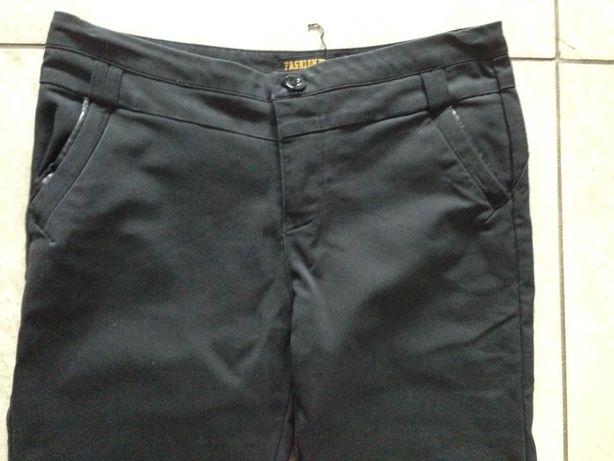 Spodnie czarne rurki eleganckie M Zara