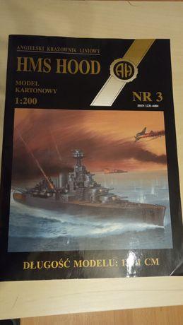 Kartonowy model Krążownika Hood