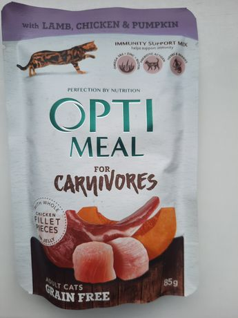 Корм Optimeal з ягнятиною та курячим філе у гарбузовому соусі та інші