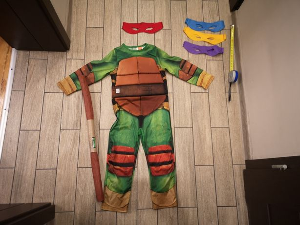 Strój żółwia ninja żółw wojownik Turtles roz.5-6lat(110-116cm)