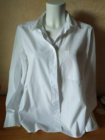 р. XL, НОВАЯ оверсайз белая базовая рубашка, хлопок