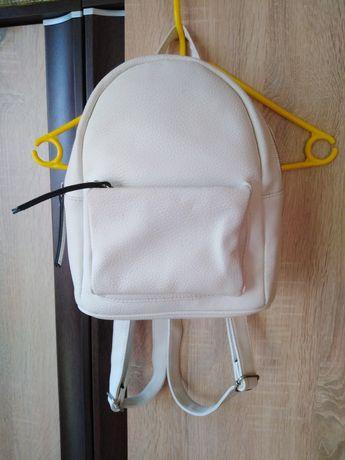 Biały skórkowy plecak New Look