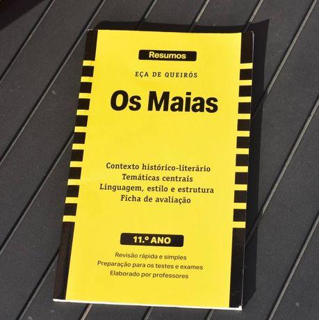 """Livro de resumo - """"Os Maias"""" 11° ano"""