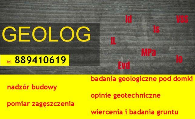 Geolog Opinia geotechniczna Badania gruntu Wiercenia pod dom Budowa