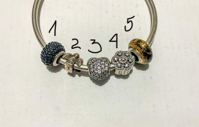 Pandora charms srebro dwa zestawy