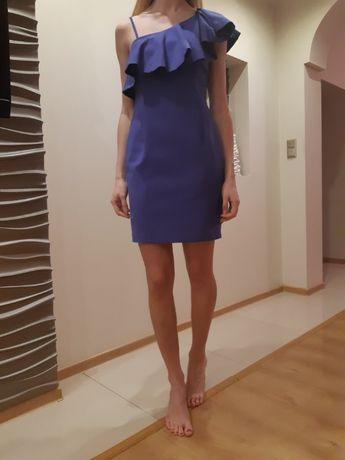 Szafirowa sukienka Reserved