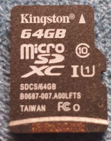 Micro SD 64GB Class 10 Kingston