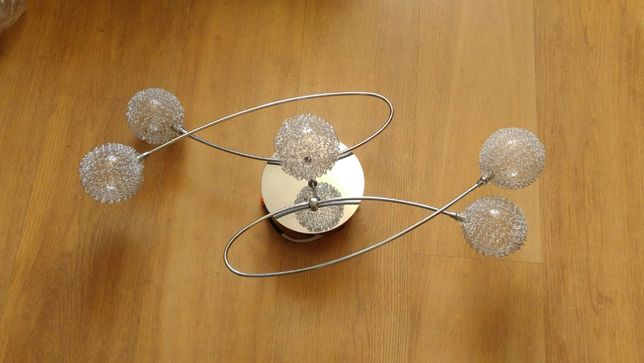 Żyrandol lampa sufitowa kule 5x12V
