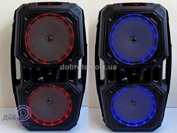НОВЫЕ! K45 Блютуз колонка чемодан микрофон караоке MP3 FM радио