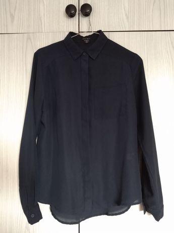 Granatowa koszula mgiełka, kołnierzyk, NEW YORKER, roz. XS