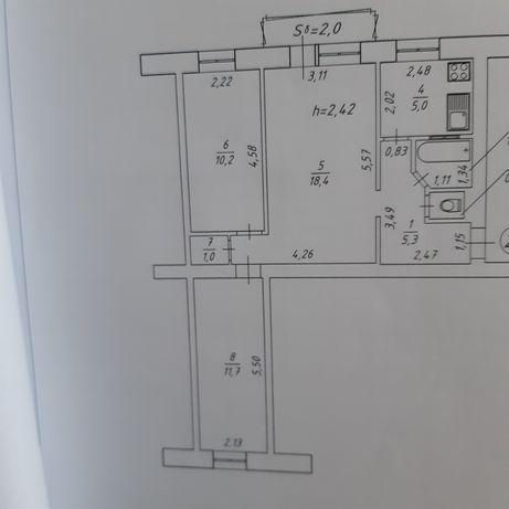 3х комнатная квартирп