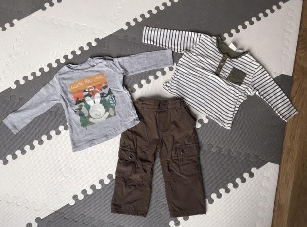 Paka ubranek na wiosne: spodnie, bluzki Zara, rozmiar 74