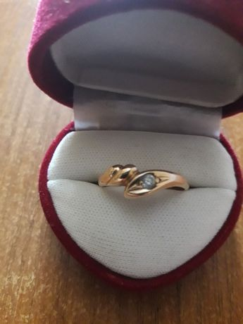Złoty pierścionek próba 585
