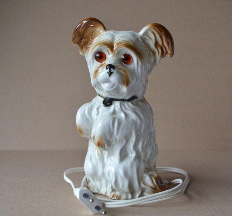 Светильник ночник Собака статуэтка ГДР Германия фарфор Киев - изображение 1