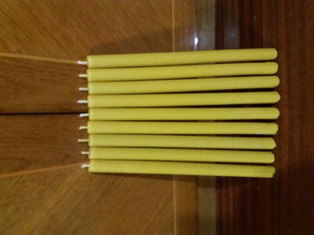Восковые свечи из чистого желтого воска