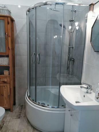 Kabina prysznicowa wysoki brodzik 90 drzwi przesuwne