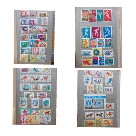Альбом марок на тему олимпийские игры, космос, города, выставки.