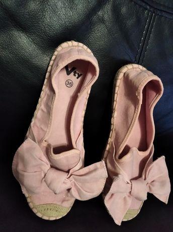 Buty z brokatem dla dziewczynki rozm 36