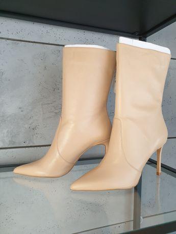 Kozaki botki na szpilce  Zara 38