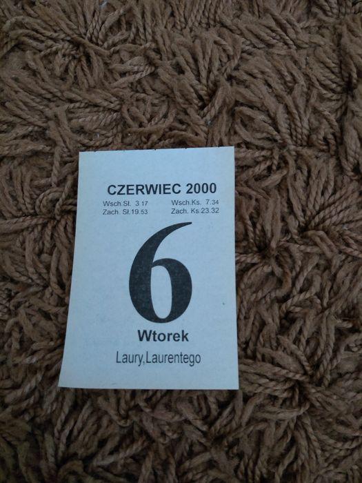 Kartka z kalendarza rok 2000 Świdnik - image 1