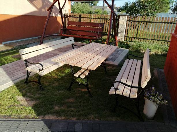 Meble ogrodowe (ławki stół komplet ogrodowy)
